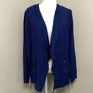 Chico's Blue Open Front Cardigan Jacket 3 XL 16